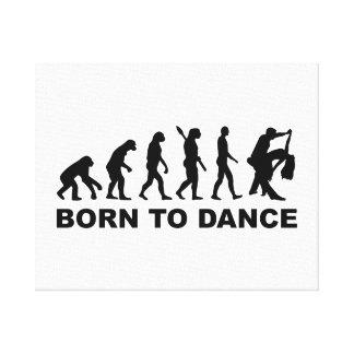 Baile de la evolución llevado para bailar