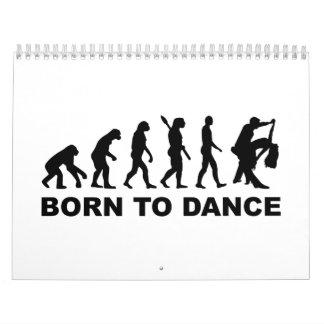 Baile de la evolución llevado para bailar calendarios