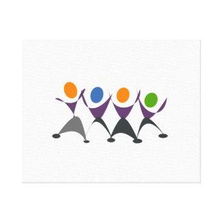 Baile de la gente del dibujo animado lona estirada galerías