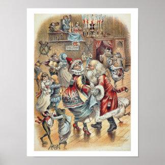 Baile de la mamá ganso con Papá Noel Impresiones