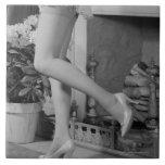 Baile de la mujer azulejos ceramicos