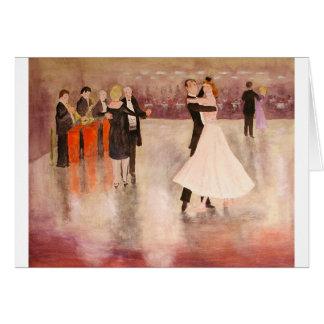 Baile de la noche tarjeta de felicitación