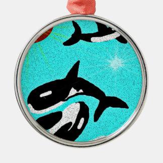 Baile de la orca para el collectionA de la vida Adorno Navideño Redondo De Metal