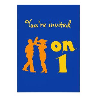 """Baile de la salsa en invitaciones de un baile invitación 5"""" x 7"""""""