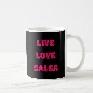Baile de la salsa taza de café