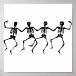 Baile de los esqueletos de Halloween Impresiones