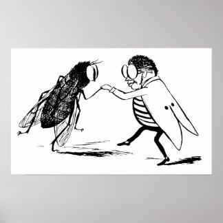 Baile de los insectos del vintage; Mosca del Blueb Posters
