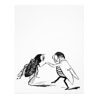 """Baile de los insectos del vintage; Mosca del Folleto 8.5"""" X 11"""""""