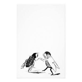 Baile de los insectos del vintage; Mosca del Papeleria De Diseño