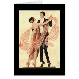 Baile de los pares de Edwardian del Victorian Tarjetón