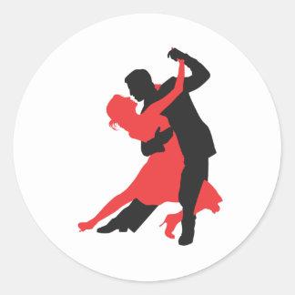 baile de los pares pegatinas redondas