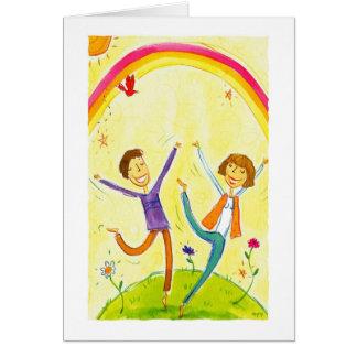 baile de los pares tarjeta de felicitación