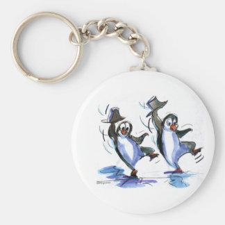 baile de los pingüinos llavero redondo tipo pin