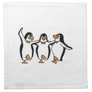 Baile de los pingüinos servilletas