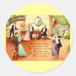 Baile de los saludos de Halloween del vintage Pegatinas