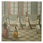 Baile de que es de moda con las mujeres griegas azulejos ceramicos