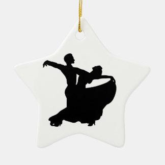 Baile de salón de baile adorno navideño de cerámica en forma de estrella