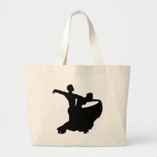 Baile de salón de baile bolsa lienzo