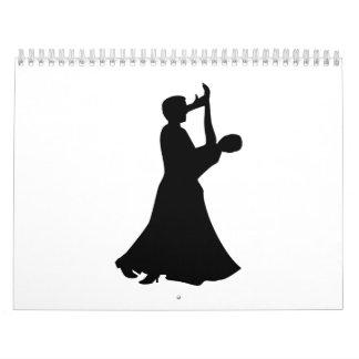 Baile de salón de baile calendario