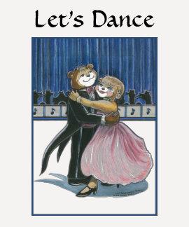 Baile de salón de baile camisetas
