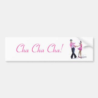 Baile de salón de baile de Cha Cha Cha Pegatina Para Auto