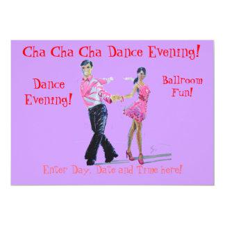 Baile de salón de baile de Cha Cha Cha Invitación Personalizada