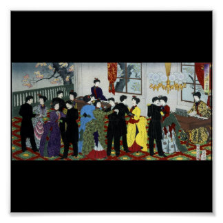 Baile de salón de baile en Tokio circa 1888 Impresiones