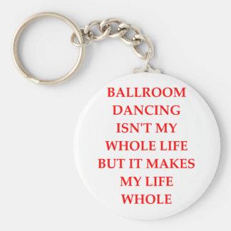 baile de salón de baile llavero redondo tipo pin