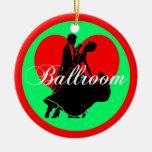 Baile de salón de baile ornamento de navidad