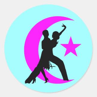 Baile de salón de baile pegatinas redondas
