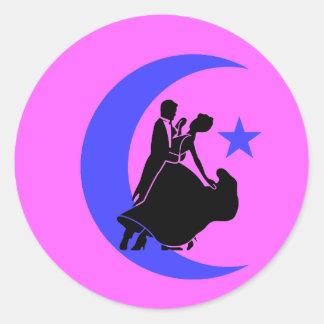 Baile de salón de baile etiquetas redondas