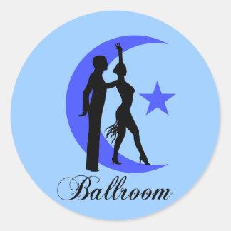 Baile de salón de baile pegatina redonda