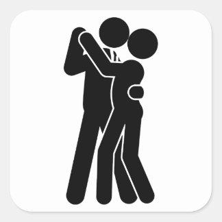 Baile de salón de baile pegatinas cuadradas