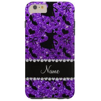 Baile de salón de baile púrpura del brillo del funda de iPhone 6 plus tough