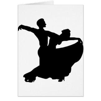 Baile de salón de baile tarjeta de felicitación