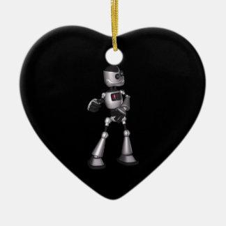 baile de semitono del individuo del robot de la adorno navideño de cerámica en forma de corazón
