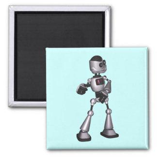 baile de semitono del individuo del robot de la imán cuadrado