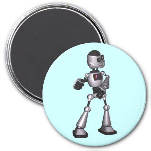 baile de semitono del individuo del robot de la imán redondo 7 cm