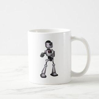 baile de semitono del individuo del robot de la taza