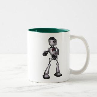 baile de semitono del individuo del robot de la taza de dos tonos