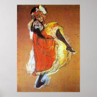Baile de Toulouse-Lautrec - de Jane Avril Posters