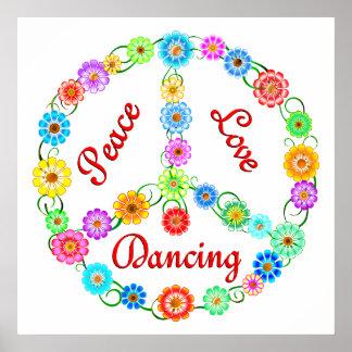 Baile del amor de la paz impresiones