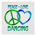 BAILE del amor de la paz Posters