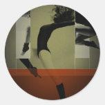 Baile del ballet etiquetas redondas