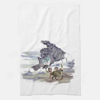 Baile del cangrejo - tango del gatito y del cangre toallas de cocina