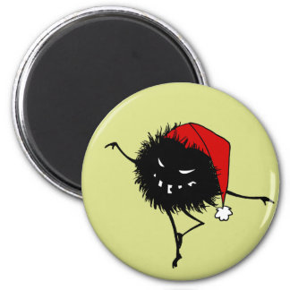 Baile del canto insecto malvado del navidad imán redondo 5 cm