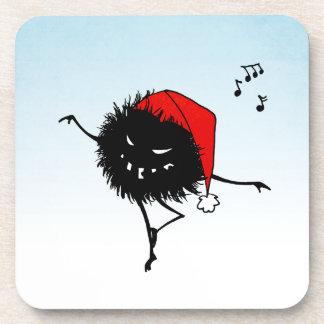 Baile del canto insecto malvado del navidad posavasos de bebidas