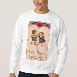 Baile del chica y del muchacho de la tarjeta del suéter
