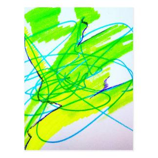 Baile del color postales