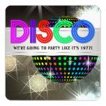 "Baile del disco invitación 5.25"" x 5.25"""